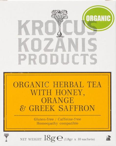 Krocus Kozanis Kräutertee mit Honig, Orange und Safran