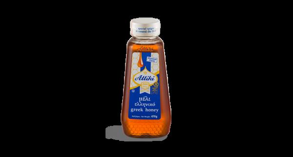 Attiki Honig Plastikflasche 470gr