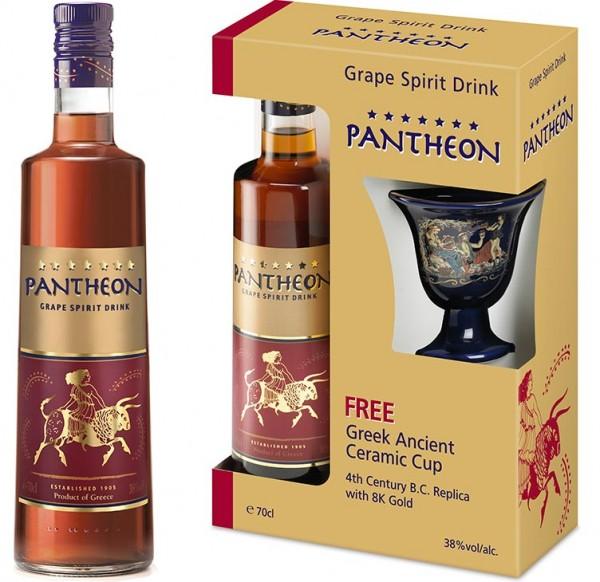 Pantheon Brandy 7* 38% 0,7L + Ceramic Cup