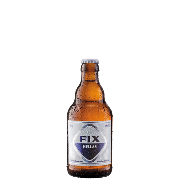 20 Flaschen FIX Bier aus Griechenland 0.33L
