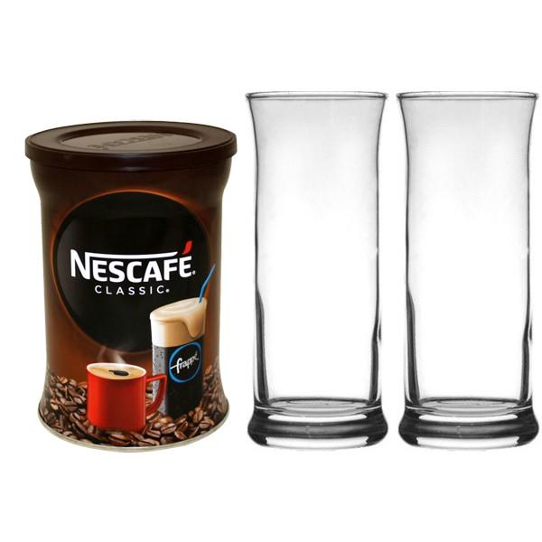 Nescafe Frappe 200g + 2 Nescafe Frappe Gläser