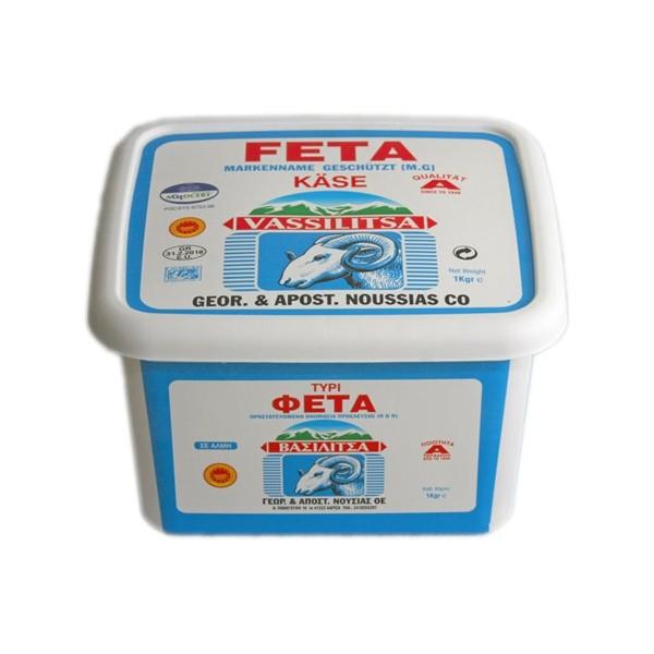 Feta Käse Vassilitsa 1Kg Plastikbox