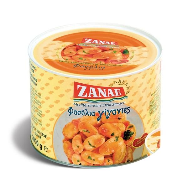 Zanae Gigantes gekochte riesen Bohnen 2Kg