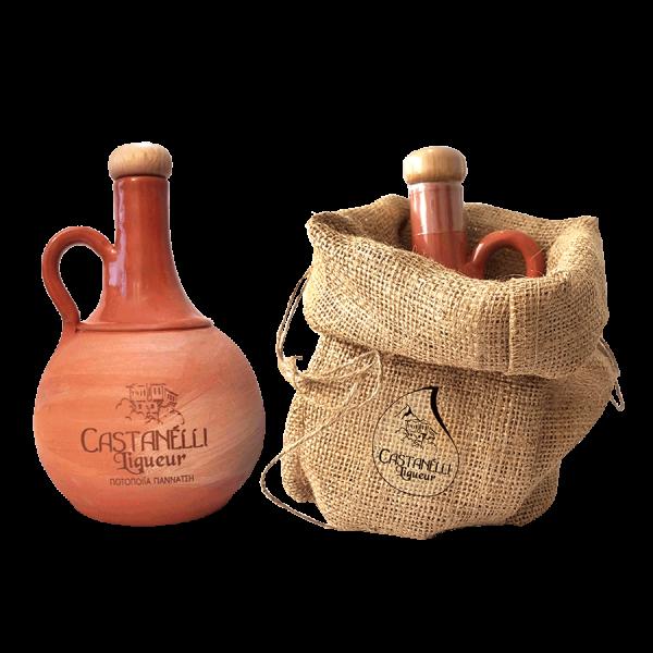 Castanelli Ouzo Kastanien Likör 24% 0,5L Ceramic