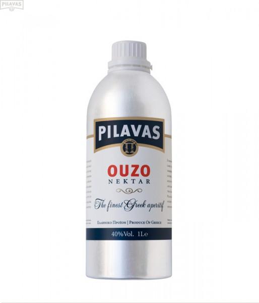 Ouzo Pilavas Nektar 40% 1L ALU Flasche