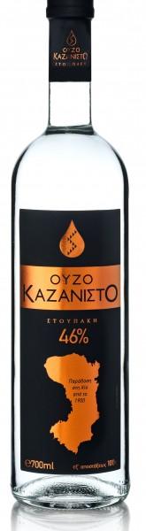 Ouzo Kazanisto Black Label Stoupakis 46% 0,7L