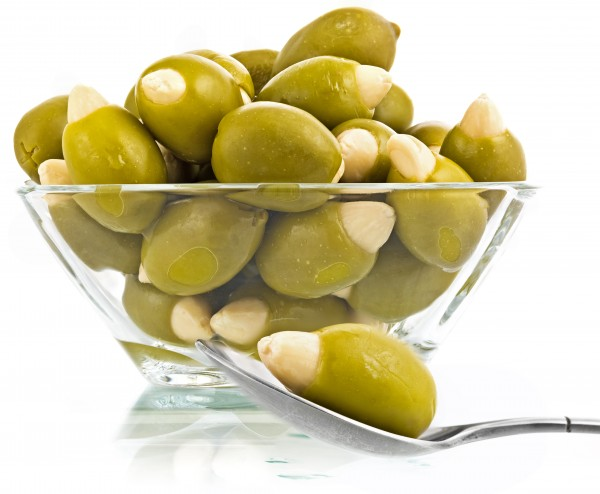 Grüne Oliven gefüllt mit Mandeln 500g