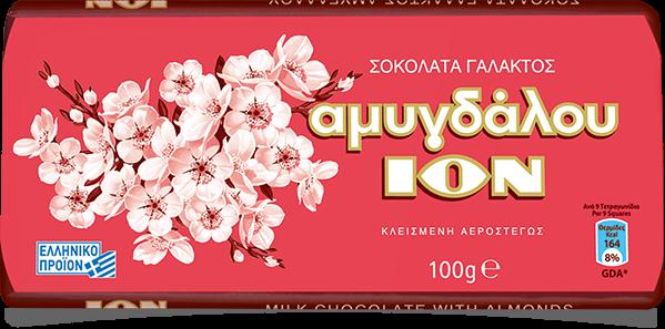ION Vollmilchschokolade mit Mandeln 100gr
