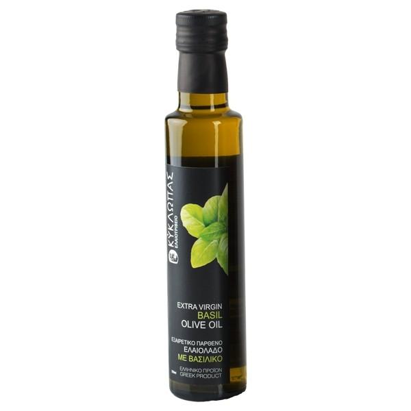 Kyklopas Extra Virgin aromatisiertes Olivenöl mit Basilikum 0.25L